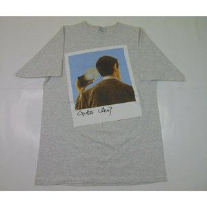 Vintage Mr Bean XL Guess Who Graphic Shirt Double Sided TV Movie Promo Gray 90s